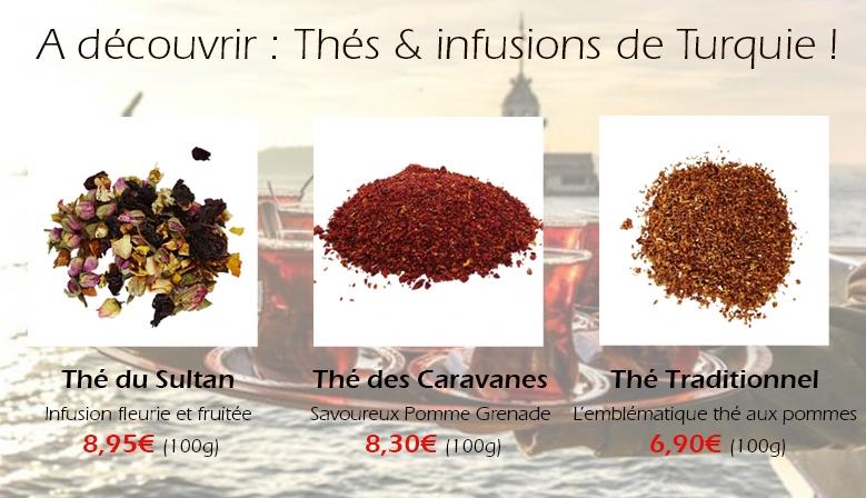 Infusions et thés traditionnels de Turquie